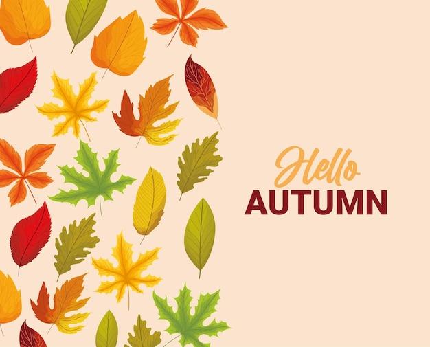 Hellow autumn poster