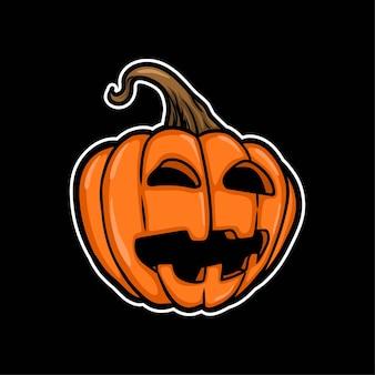 Helloween pumpkin illustration