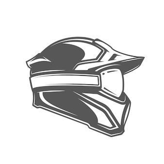 ヘルメットとマスクの分離図