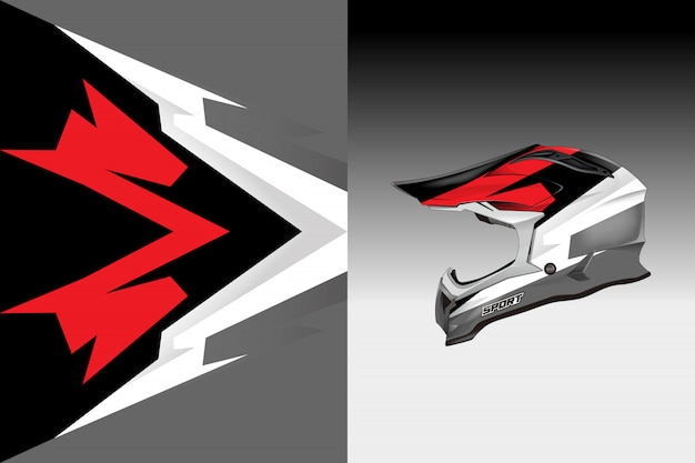 Helmet decal wrap designs vector livery designs