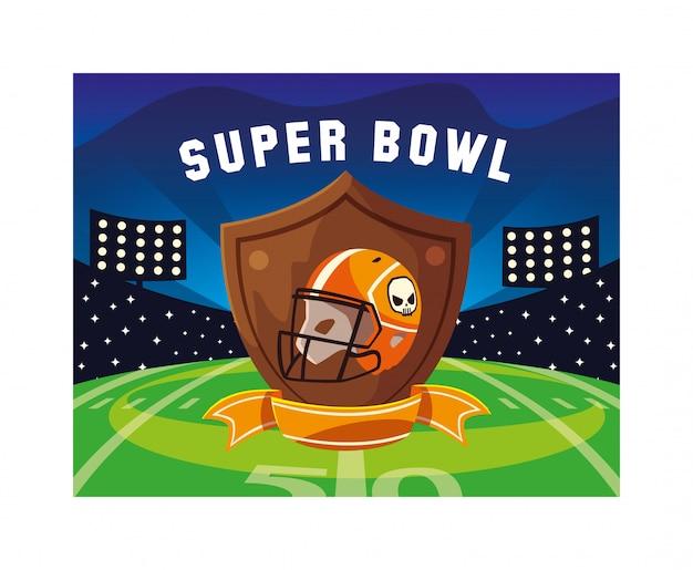 Helmet of football american with