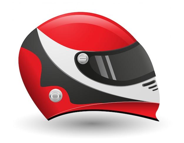 レーサー用ヘルメット。
