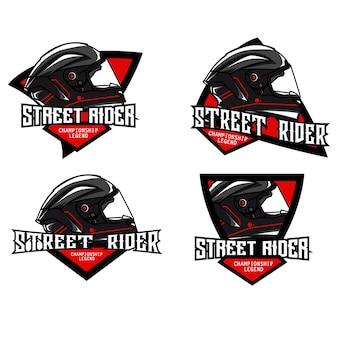 Helmet logo set