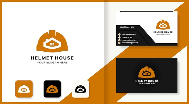 Helmet real estate logo and business card design