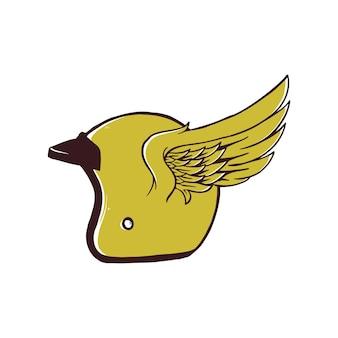 Крылья шлема, изолированные на белом фоне