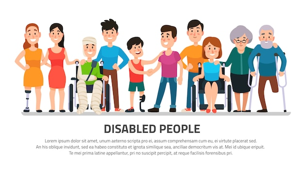 Help disabled person
