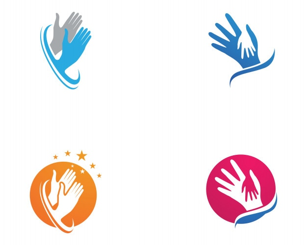 Help hand logo and template symbols