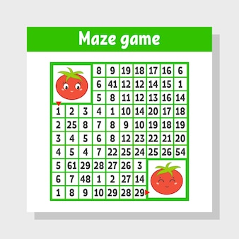 Help one tomato get to another worksheet for kids