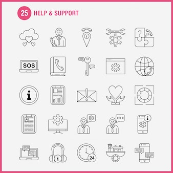 Help and support line icon