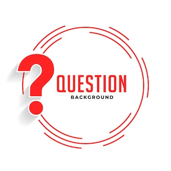 Help and support question mark background in red color