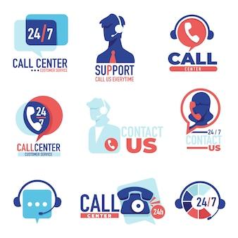 ヘルプデスクまたはホットライン247、顧客が問題を解決するのを支援するオペレーター。電話で話しているヘッドセットを持つアシスタント。コールセンターまたはクライアントのサポート、ショップのコンサルタント、フラットスタイルのベクター