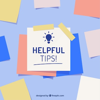 Helpful tip composition with flat design
