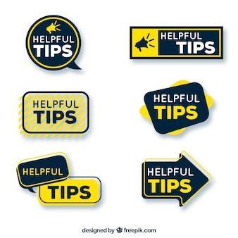 Helpful tips badges collection