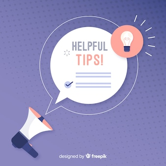 Helpful tips concept in flat style