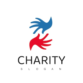 Рука помощи, шаблон логотипа благотворительности