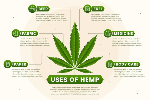 Hemp uses infographic template