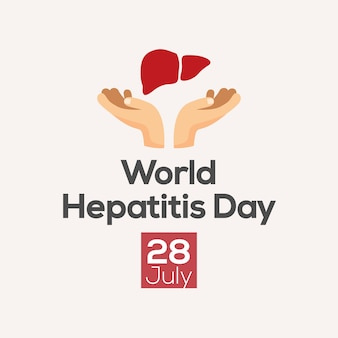 Hepatitis day poster design. vector illustration