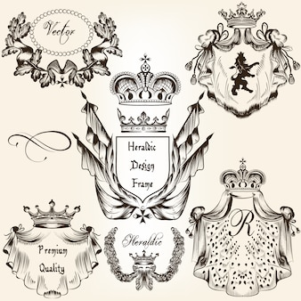 Heraldic elements collection
