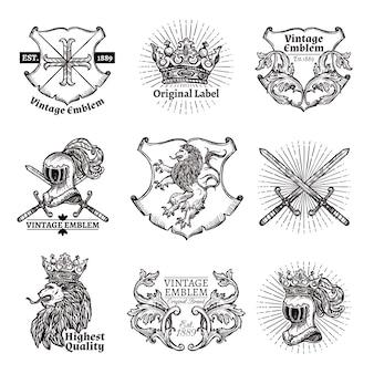Набор геральдических эмблем