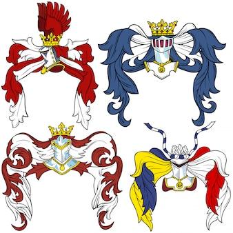 Heraldic helmet set