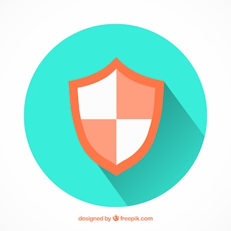 Heraldic shield in flat design