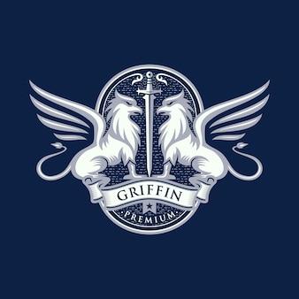 Heraldry griffin logo design