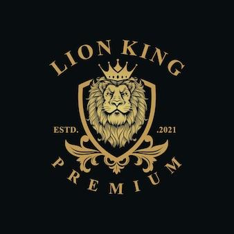 Шаблон роскошного дизайна геральдики льва