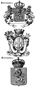 Heraldry vector designs
