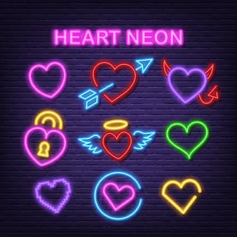 Herat neon icons