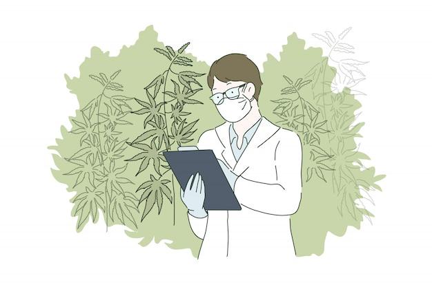 Травяная концепция альтернативной медицины.