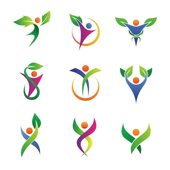 Herbal health care logo  collections
