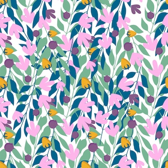 Herbal leaves seamless pattern , fashion, interior, wrapping