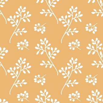 Herbal seamless pattern vector illustration floral repeating print for textile