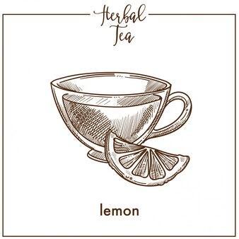 Herbal tea with lemon slice