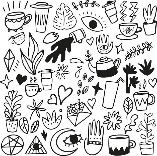 Каракули травы и чая