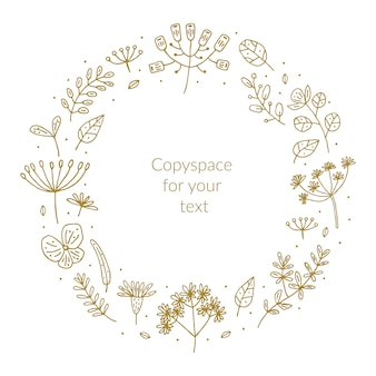 Травы рисованной каракули клипарт, набор элементов