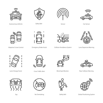 Here is a set of car driving line icons, having gripping visuals of car driving icons that you can easily edit and utilize in your project need.