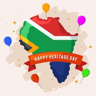 유산의 날 풍선과 남아프리카
