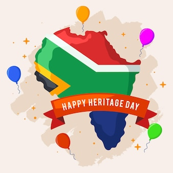 Heritage day balloons and south africa