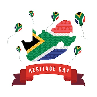 Heritage day card with map