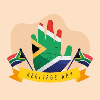 Heritage day postcard with hand painted