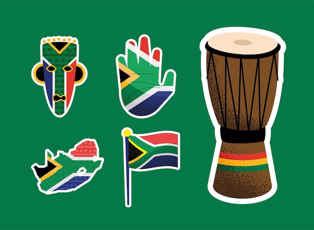 Heritage day set five icons