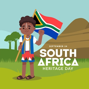 Heritage day (south africa) in flat design