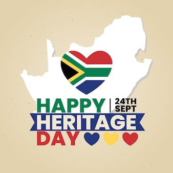 Heritage day with heart and map