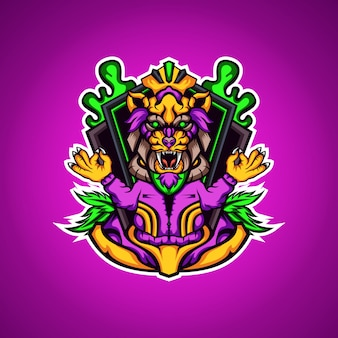 隠者虎マスコットロゴ