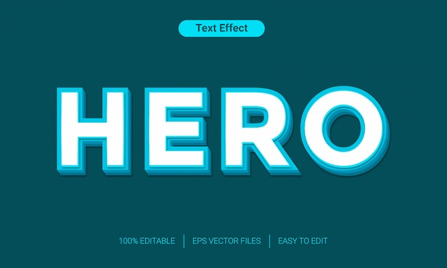 Hero 3d text style effect
