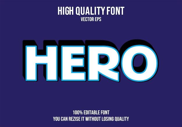 Hero editable text effect