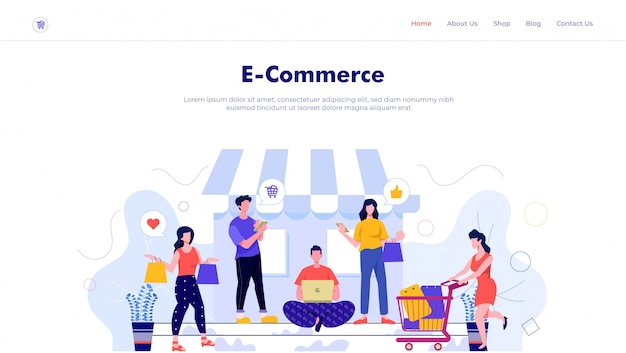 Hero header landing page ecommerce