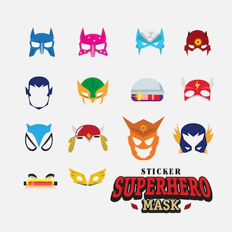 Hero mask. face character.