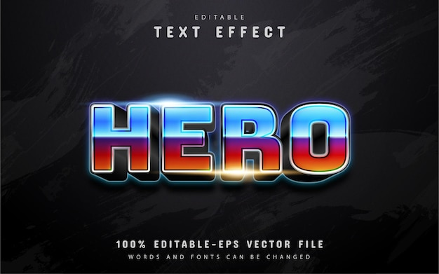 Hero text, 80s gradient style text effect